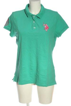 U.s. polo assn. Polo-Shirt Schriftzug gestickt Casual-Look