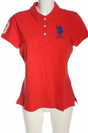 U.s. polo assn. Polo rouge-bleu style décontracté