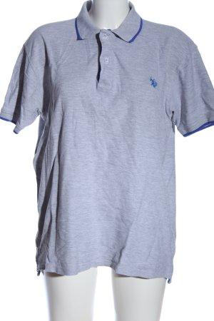U.s. polo assn. Polo-Shirt hellgrau-blau meliert Casual-Look