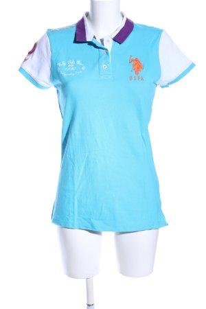 U.s. polo assn. Polo-Shirt Schriftzug gestickt sportlicher Stil