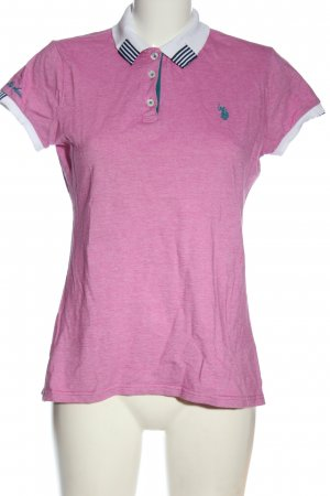 U.s. polo assn. Polo-Shirt meliert Casual-Look