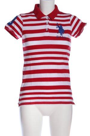 U.s. polo assn. Polo-Shirt rot-weiß Allover-Druck Casual-Look
