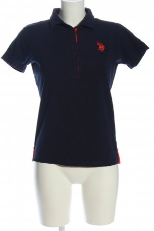 U.s. polo assn. Polo-Shirt blau-rot Casual-Look