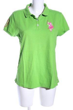 U.s. polo assn. Polo-Shirt grün Casual-Look