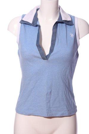 U.s. polo assn. Koszulka polo niebieski-biały Melanżowy W stylu casual