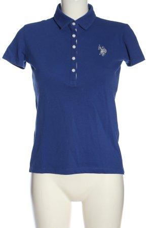 U.s. polo assn. Polo-Shirt blau-weiß Casual-Look