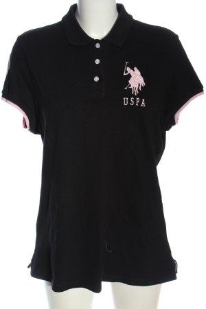 U.s. polo assn. Polo noir-rose style décontracté