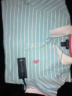 U.S Polo Assn Poloshirt Blue/White S