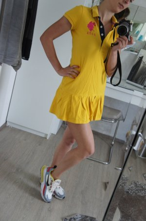 U.S. POLO ASSN.  Ralph Lauren Kleid S Gelb mini Top Zustand
