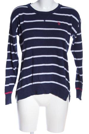 U.s. polo assn. Rundhalspullover blau-weiß Streifenmuster Casual-Look
