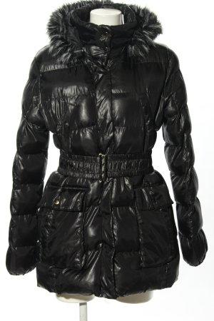 U.s. polo assn. Veste matelassée noir motif de courtepointe style décontracté