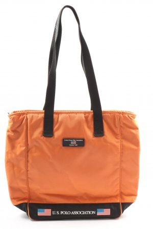 U.s. polo assn. Canvas Bag light orange printed lettering casual look