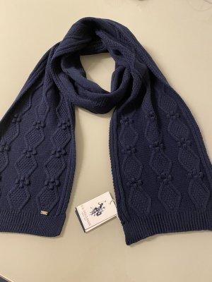 Us Polo ASSN Écharpe en tricot bleu foncé