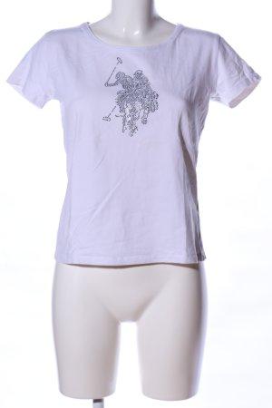U.s. polo assn. T-Shirt weiß Motivdruck Casual-Look