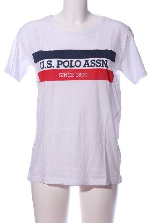U.s. polo assn. T-Shirt Motivdruck Casual-Look