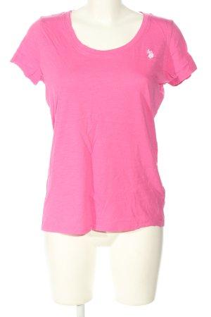 U.s. polo assn. T-Shirt pink Casual-Look