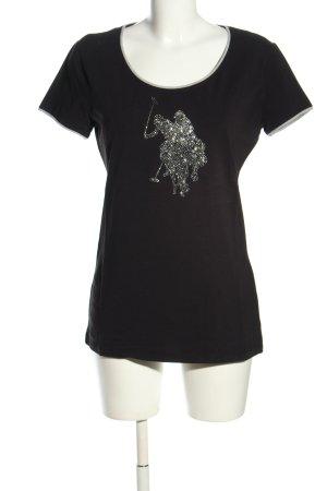 U.s. polo assn. T-Shirt schwarz-silberfarben Casual-Look