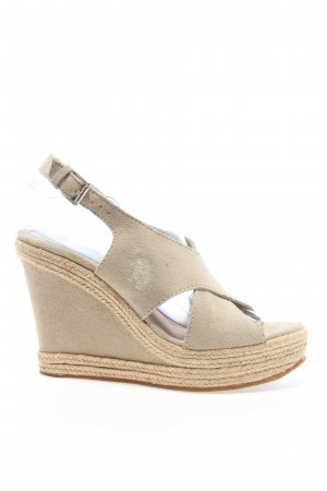 U.s. polo assn. Wedges Sandaletten creme Casual-Look