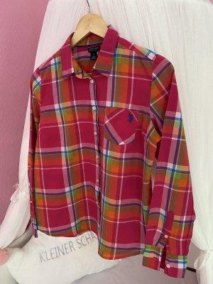 U.s. polo assn. Camicia a maniche lunghe rosso lampone-rosa