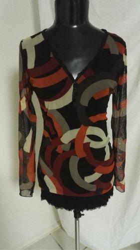 U5 Chiffon Shirt in Bunt von Vestino Gr.38 w.Neu