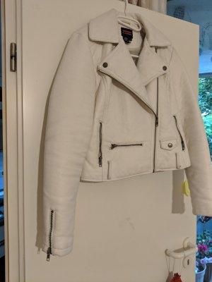 Castro Leather Jacket white leather
