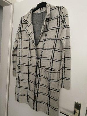 Płaszcz zimowy srebrny-jasnobeżowy