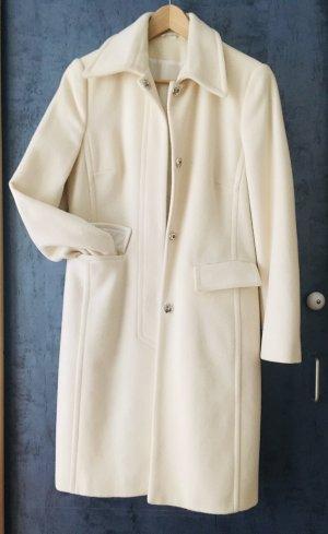 Cappotto in lana bianco sporco-crema