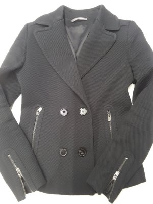 René Lezard Wool Jacket black mixture fibre