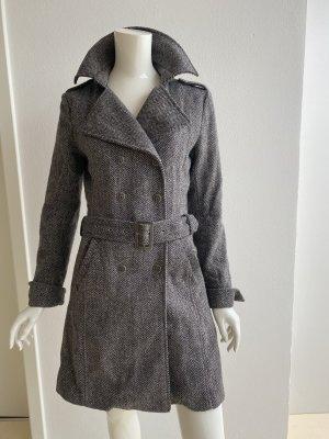 Madonna Cappotto corto nero-grigio chiaro Tessuto misto