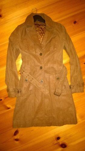 Manteau en cuir multicolore cuir
