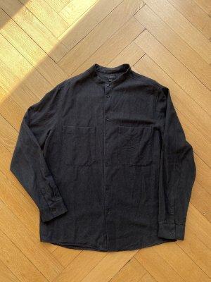 COS Shirt met lange mouwen antraciet