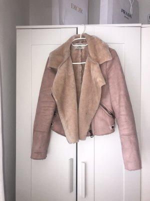 Bershka Between-Seasons Jacket dusky pink-pink