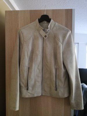 UP Fashion Faux Leather Jacket oatmeal