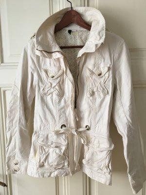 Übergangsjacke aus Baumwolle (in Cremeweiß)