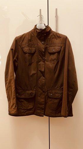 Barbour Woskowana kurtka ciemnobrązowy Bawełna