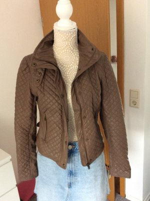 Bershka Biker Jacket brown-cognac-coloured