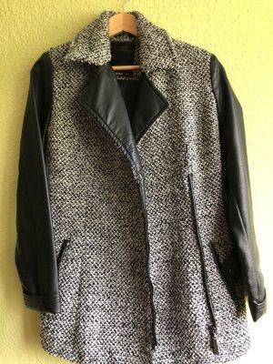 Cosima Short Coat white-black