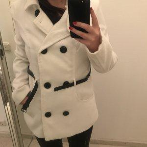 Tally Weijl Granatowa kurtka biały-czarny