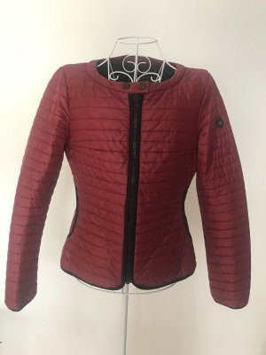 Replay Quilted Jacket black-bordeaux