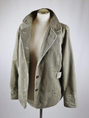 Übergangsjacke Jacke Blouson Blue Motion Größe L 42 44 Kitt Grau Beige Cord Kord Kurzmantel Stehkragen  Boyfriend
