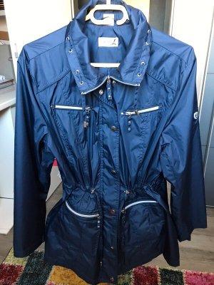 Collektion L Veste longue bleu foncé polyester