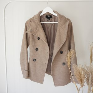 Übergangsjacke Mantel beige Knöpfe Übergangsmantel braun taupe jacke