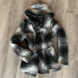 Übergangsjacke / Mantel in grau weiß