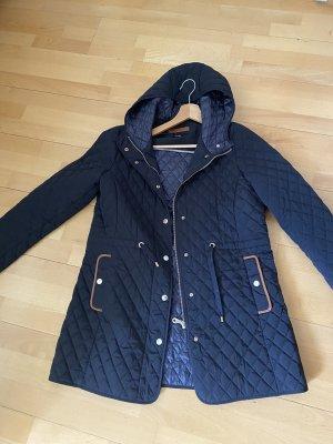 Massimo Dutti Between-Seasons Jacket dark blue-dark brown