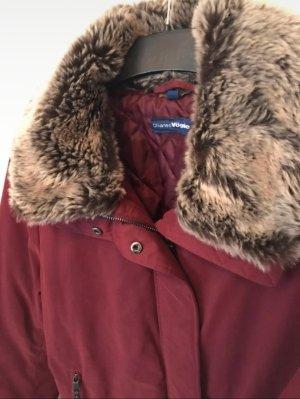 Charles Vögele Krótka kurtka głęboka czerwień