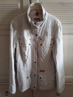 C&A Yessica Kurtka przejściowa w kolorze białej wełny-jasnobeżowy Bawełna