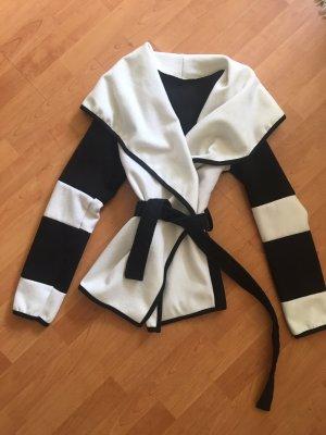 Gebreide blazer zwart-wit
