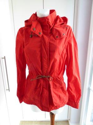 H&M Kurtka z kapturem czerwony Poliester