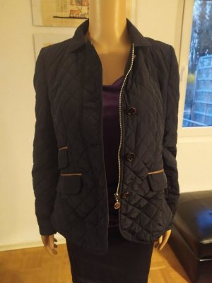 Massimo Dutti Quilted Jacket black mixture fibre