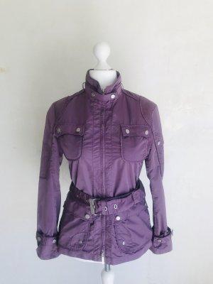 mabrun Veste safari bleu violet